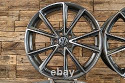 18 Pouces Jantes A5 Pour VW Golf 7 6 5 Gti GTD Plus Sportsvan Gris Pfp ET45 ABE