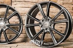 18 Pouces Jantes A5 pour VW Passat B6 B7 B8 3C 3G Touran 1T ET45 Gris Pp 5x112
