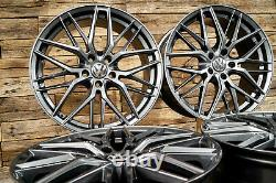 19 Pouces Jantes RW01 pour VW Passat B6 B7 B8 3C 3G Touran 1T ET45 Gris 5x112