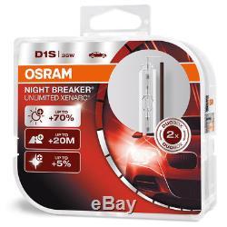 2 x D1S NEUF OSRAM Xenarc Night Breaker Unlimited +70% Xenon AMPOULE LAMP-TWIN