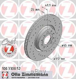 2x Disque de frein ZIMMERMANN (100.3300.52)