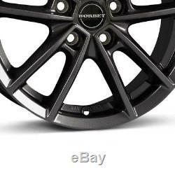 4 Jantes Borbet W 6.5x16 ET50 5x112 ANT pour VW Caddy Cross Touran e-Golf Golf J