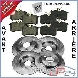 4x DISQUE+PLAQUETTES DE FREIN AVANT+ARRIÈRE VW JETTA 3 1K 4 2005-10 TOURAN 1T