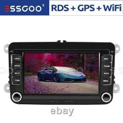 7 AUTORADIO Android 9.1 RDS GPS NAVI 2 DIN For VW GOLF 5 6 Plus Touran Polo EOS