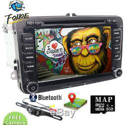 7 Radio Navegador Gps DVD Bluetooth Para Vw Tiguan Touran Bora Multivan+camera