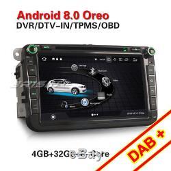 8DAB+Autoradio Android 8.0 CD für VW PASSAT GOLF5/6 TOURAN JETTA Tiguan Skoda