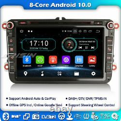 8 Core Android 10 Autoradio Navi FM For VW Golf Passat Skoda Touran T5 Jetta DAB