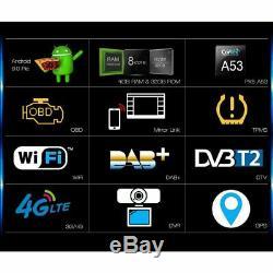 8-Core Android 9.0 Autoradio GPS for VW PASSAT SKODA SEAT GOLF TOURAN 4G CD DAB+