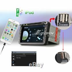 8 DAB+ GPS Autoradio For VW Golf Passat Polo Touran Tiguan Caddy BT TNT OPS DVD