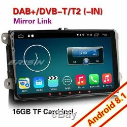 9Android 8.1 GPS Autoradio DAB+For VW Passat CC Seat Golf 5 6 Jetta Touran OBD2