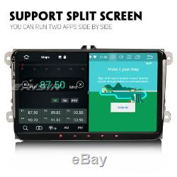 9 Android 8.1 Autoradio GPS For VW Skoda Seat Passat Golf 5 Tiguan Jetta 8-Core