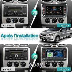 Autoradio Bluetooth 2Din GPS Navi USB CD Para VW Golf 5 6 Plus Touran Polo Skoda