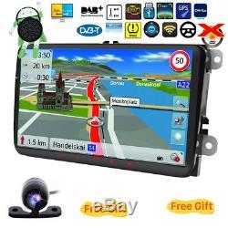 Autoradio For VW SEAT Golf Polo Beetle Leon EOS Android 8.0 TNT GPS DAB+97491FR