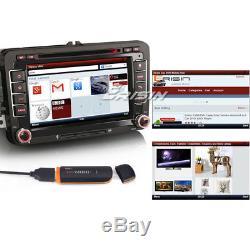 DAB+Autoradio For VW Seat Skoda Leon Golf Polo EOS Bluetooth CD USB 3G GPS 7148F