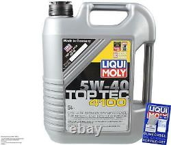FILTRE DE KIT D'INSPECTION HUILE LIQUI MOLY 5 L 5W-40 pour VW Touran 1T1 1T2 1.6