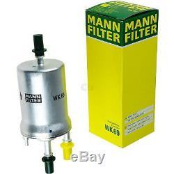 Huile Moteur 5L Mannol 5W-30 Break Ll + Mann-Filter Filtre VW Touran 1T1 1T2