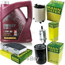 Huile Moteur 5L Mannol 5W-30 Break Ll + Mann-Filter VW Golf Plus de 5M1 521