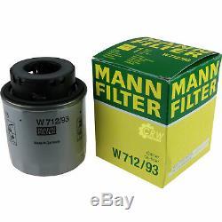 Huile Moteur 5L Mannol 5W-30 Break Ll + Mann Filtre Luft VW Touran 1T1 1T2 1.4