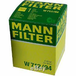 Huile Moteur 5L Mannol 5W-30 Break Ll + Mann Filtre Luft VW Touran 1T3 1.2
