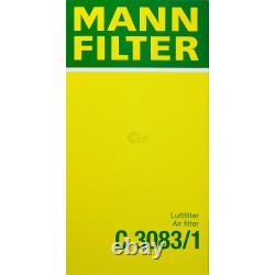 Huile Moteur 5L Mannol Classic 10W-40 + Mann Filtre Luft Filtre VW Touran 1T1