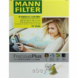 Huile Moteur 5L Mannol Defender 10W-40 + Mann-Filter Filtres à VW Touran 1T1 1T2