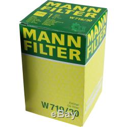 Huile moteur 5L MANNOL Classic 10W-40 + Mann-Filter filtre VW Golf Plus, 5M1