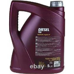 Huile moteur 5L MANNOL Dieseli 5W-30 + Mann-Filter filtre VW Touran 1T3 1.2 TSI