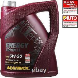 Huile moteur 5 L MANNOL 5W-30 Break LL+MANN-FILTER VW Golf Plus 5M1 521 1.6