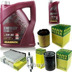 Huile moteur 6L MANNOL 5W-30 Break LL+Filtre MAN VW Golf Plus 5M1 521 1.6