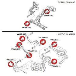 KIT 18 silentblocs suspension avant et arrières, pour VW Golf Plus 5M