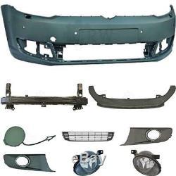 Kit Pare-Chocs avant +Bretelles+Accessoires+Brouillard VW Caddy Touran 1t3 Année