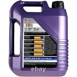 LIQUI MOLY 5L 5W-40 huile moteur + Mann-Filter filtre VW Touran 1T1 1T2 1.4 FSI