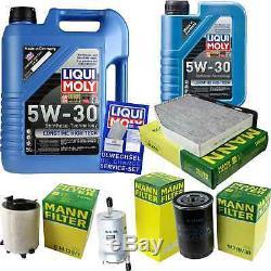 Liqui Moly 6L Longue Date High Tech 5W-30 Huile + Mann pour VW Golf V 1K1 Plus