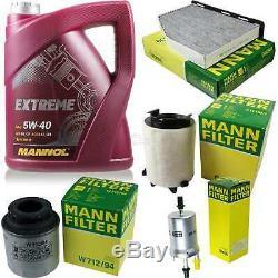 MANNOL 5L Extreme 5W-40 huile moteur + Mann Filtre Luft VW Touran 1T3 1.2