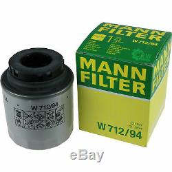 Mannol 5L Extreme 5W-40 Huile Moteur + Mann-Filter VW Touran 1T3 1.2 TSI