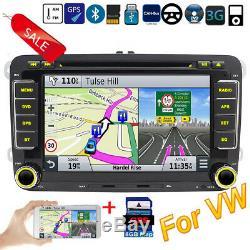 Map+Autoradio For VW Seat Skoda Leon Golf Polo EOS Bluetooth CD USB 3G GPS 7148F