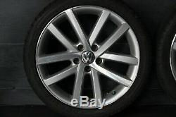 Original VW Golf 5 6 Touran Vancouver Jantes 18 Pouces Pneu DÉté 225 40 r18