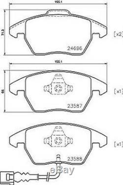 Plaquettes de Frein Kit et Disques avant Brembo Audi A3 2.0TDI N° Pr 1ZD 1LD