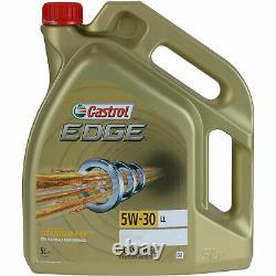 Révision Filtre Castrol 5L Huile 5W30 Pour VW Touran 1T1 1T2 2.0 Tdi 16V