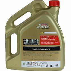 Sketch D'Inspection Filtre Castrol 10l Huile 5w30 pour pour VW Touran 1t3