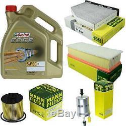 Sketch D'Inspection Filtre Castrol 5L Huile 5W30 pour VW Touran 1T1 1T2 1.4 TSI