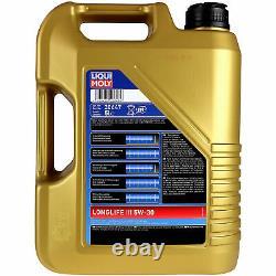 Sketch D'Inspection Filtre Liqui Moly Huile 10L 5W-30 pour La VW Touran 1T3
