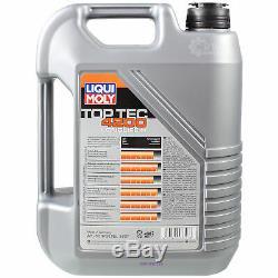 Sketch D'Inspection Filtre Liqui Moly Huile 10L 5W-30 pour de VW Touran 1T3 1.4