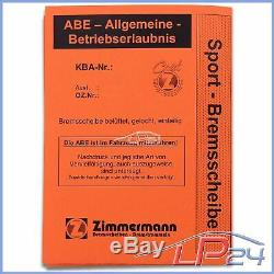 Zimmermann Sport Disques De Frein Coat Z + Plaquettes Avant Vw Touran 1t 03